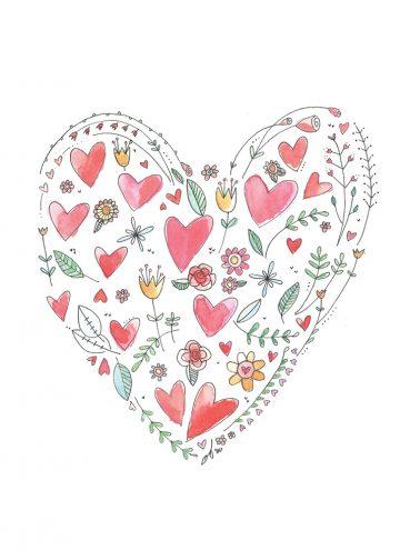 MINI Carte pliée 2,5 x 3,5 Valentine