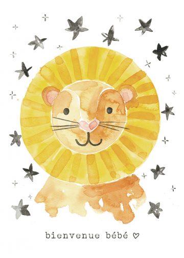 Affiche 8x10 pouces Lion Lambert 2