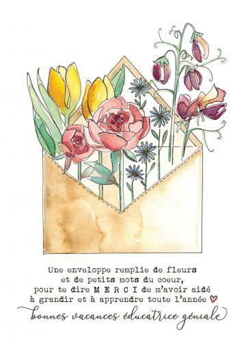 carte pliée 5 x 7 Alphonsine 28